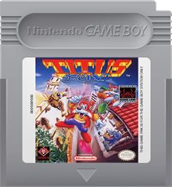 Cartridge artwork for Titus the Fox: To Marrakech and Back on the Nintendo Game Boy.