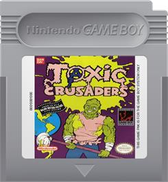 Cartridge artwork for Toxic Crusaders on the Nintendo Game Boy.