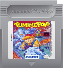 Cartridge artwork for Tumble Pop on the Nintendo Game Boy.