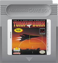 Cartridge artwork for Turn & Burn on the Nintendo Game Boy.