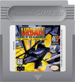 Cartridge artwork for Urban Strike on the Nintendo Game Boy.