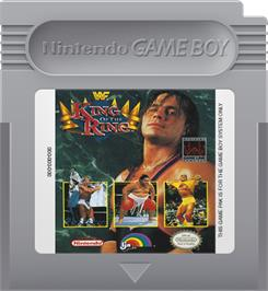 Cartridge artwork for WWF King of the Ring on the Nintendo Game Boy.
