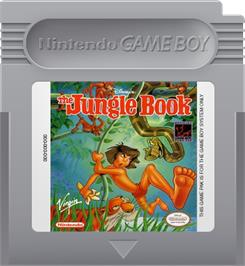 Cartridge artwork for Walt Disney's The Jungle Book on the Nintendo Game Boy.