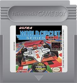 Cartridge artwork for World Circuit Series on the Nintendo Game Boy.