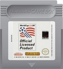 Cartridge artwork for World Cup USA '94 on the Nintendo Game Boy.