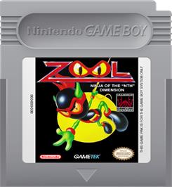 Cartridge artwork for Zool on the Nintendo Game Boy.