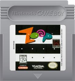 Cartridge artwork for Zoop on the Nintendo Game Boy.