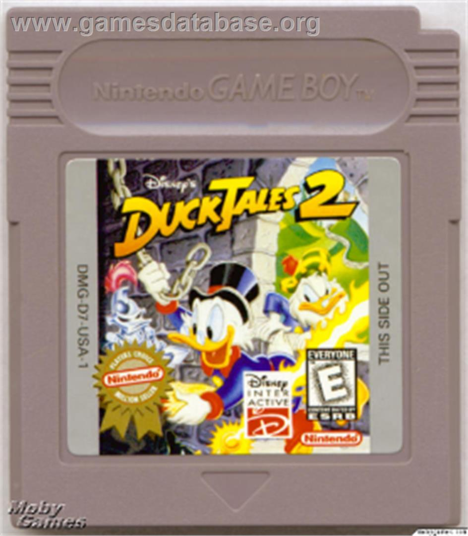 Duck Tales 2 - Nintendo Game Boy - Artwork - Cartridge