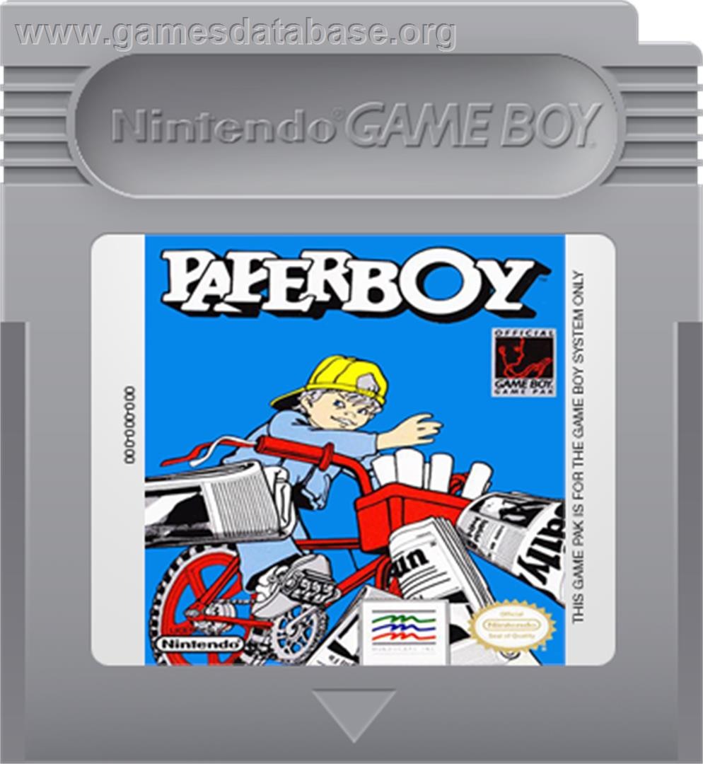 Paperboy - Nintendo Game Boy - Artwork - Cartridge