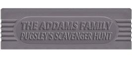 Top of cartridge artwork for Addams Family: Pugsley's Scavenger Hunt on the Nintendo Game Boy.