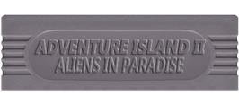 Top of cartridge artwork for Adventure Island II - Aliens in Paradise on the Nintendo Game Boy.
