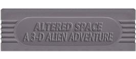 Top of cartridge artwork for Altered Space: A 3-D Alien Adventure on the Nintendo Game Boy.