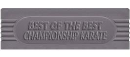 Top of cartridge artwork for Best of the Best Championship Karate on the Nintendo Game Boy.