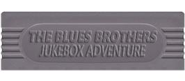 Top of cartridge artwork for Blues Brothers: Jukebox Adventure on the Nintendo Game Boy.
