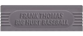 Top of cartridge artwork for Frank Thomas' Big Hurt Baseball on the Nintendo Game Boy.