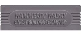 Top of cartridge artwork for Hammerin' Harry: Ghost Building Company on the Nintendo Game Boy.