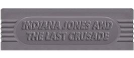 Top of cartridge artwork for Indiana Jones and the Last Crusade: The Action Game on the Nintendo Game Boy.