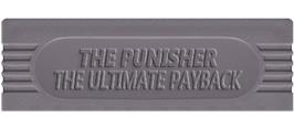 Top of cartridge artwork for Punisher: Ultimate Payback on the Nintendo Game Boy.