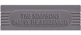 Top of cartridge artwork for Simpsons: Bart vs. the Juggernauts on the Nintendo Game Boy.