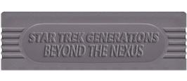 Top of cartridge artwork for Star Trek Generations - Beyond the Nexus on the Nintendo Game Boy.