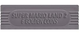 Top of cartridge artwork for Super Mario Land 2: 6 Golden Coins on the Nintendo Game Boy.