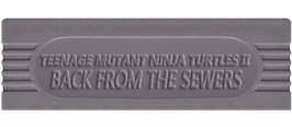 Top of cartridge artwork for Teenage Mutant Ninja Turtles II:  Back from the Sewers on the Nintendo Game Boy.
