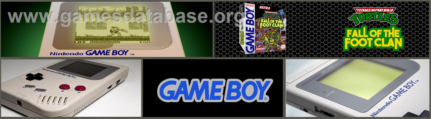 Teenage Mutant Ninja Turtles:  Fall of the Foot Clan - Nintendo Game Boy - Artwork - Marquee