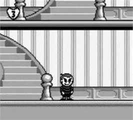 In game image of Addams Family: Pugsley's Scavenger Hunt on the Nintendo Game Boy.