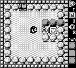 In game image of Adventures of Lolo, The on the Nintendo Game Boy.