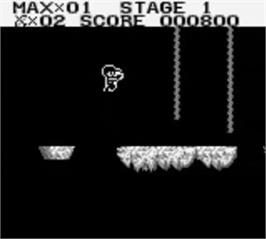 In game image of Adventures of Star Saver on the Nintendo Game Boy.
