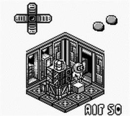 In game image of Altered Space: A 3-D Alien Adventure on the Nintendo Game Boy.