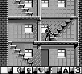 In game image of Amazing Spider-Man 2 on the Nintendo Game Boy.
