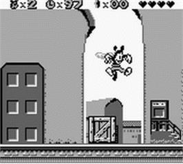 In game image of Animaniacs on the Nintendo Game Boy.
