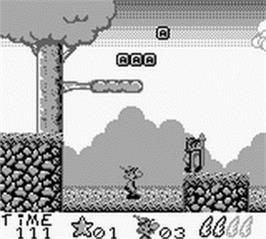 In game image of Asterix on the Nintendo Game Boy.