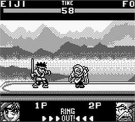 In game image of Battle Arena Toshinden on the Nintendo Game Boy.