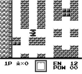 In game image of Battle City on the Nintendo Game Boy.