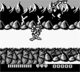 In game image of Battletoads on the Nintendo Game Boy.