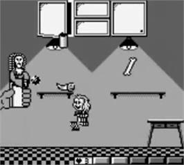 In game image of Beetlejuice on the Nintendo Game Boy.