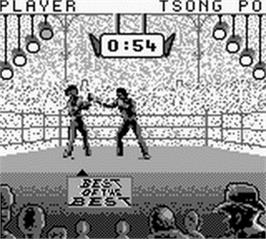 In game image of Best of the Best Championship Karate on the Nintendo Game Boy.