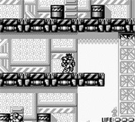In game image of Bionic Commando on the Nintendo Game Boy.