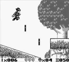 In game image of Blues Brothers: Jukebox Adventure on the Nintendo Game Boy.