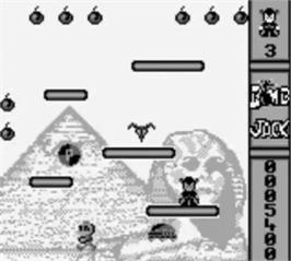 In game image of Bomb Jack on the Nintendo Game Boy.