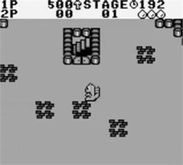 In game image of Boomer's Adventure in ASMIK World on the Nintendo Game Boy.