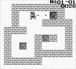 In game image of Boxxle II on the Nintendo Game Boy.