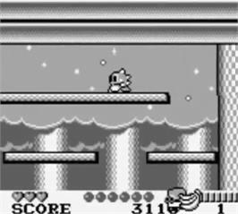 In game image of Bubble Bobble Part 2 on the Nintendo Game Boy.