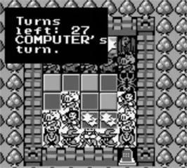 In game image of Castle Quest on the Nintendo Game Boy.