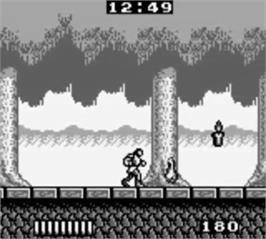In game image of Castlevania: The Adventure on the Nintendo Game Boy.
