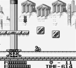 In game image of Castlevania II: Belmont's Revenge on the Nintendo Game Boy.