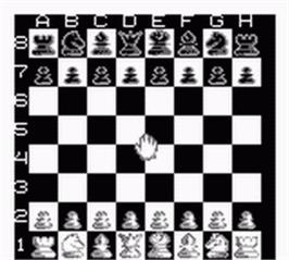 In game image of Chessmaster on the Nintendo Game Boy.