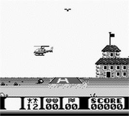 In game image of Choplifter 2 on the Nintendo Game Boy.